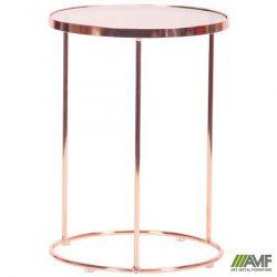 stol zhurnalnyi kalibri rose gold glass top