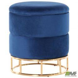 puf gabriel blue golden chrom