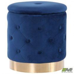 puf janett blue golden chrom