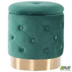 puf little janett green golden chrom