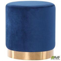 puf madrid blue golden chrom