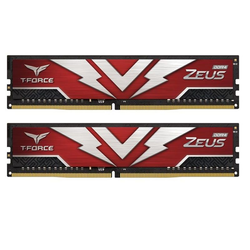 Модуль памяти DDR4 2х8GB 2666MHz Team T-Force Zeus Red (TTZD416G2666HC19DC01) в Дніпрі