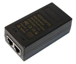 poe ynzhektor 48v 0.5a 24vt s portamy ethernet 10 100 1000mbyt s kabe