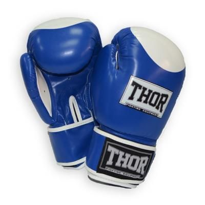 Боксерские перчатки THOR Competition 14oz Blue/White (500/02(Leath) BLU/WHITE 14 oz.) в Дніпрі