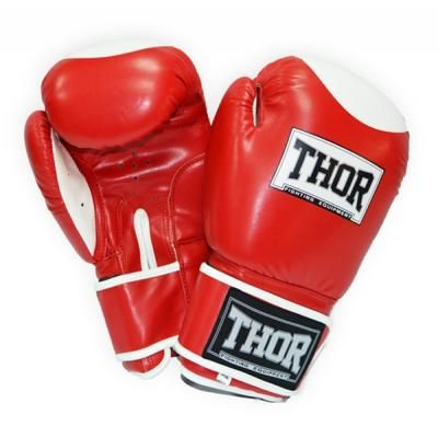 Боксерские перчатки THOR Competition 16oz Red/White (500/01(Leath) RED/WHITE 16 oz.) в Дніпрі