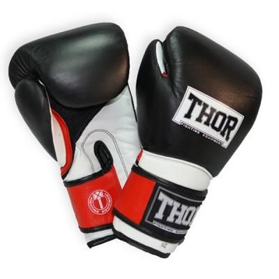 Боксерские перчатки THOR Pro King 12oz Black/Red/White (8041/02(Leather) B/R/Wh 12 oz.) в Дніпрі