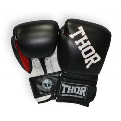 Боксерские перчатки THOR Ring Star 16oz Black/White/Red (536/02(PU)BLK/WHT/RED 16 oz.) в Дніпрі