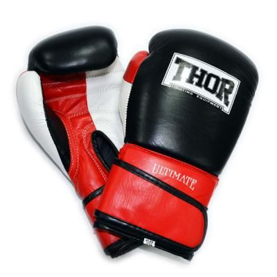 Боксерские перчатки THOR Ultimate 10oz Black/White/Red (551/01(Leather) W/B/R 10 oz.) в Дніпрі