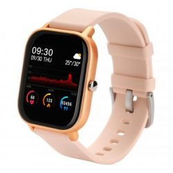 globex smart watch me gold rose