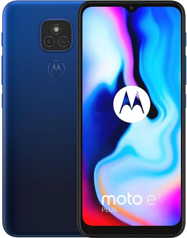 Мобильный телефон Motorola E7 Plus 4/64 GB Misty Blue (PAKX0008RS) в Дніпрі